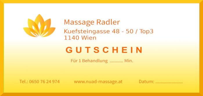 Massage Gutscheine Wien für Nuad, Reiki und Access Bars